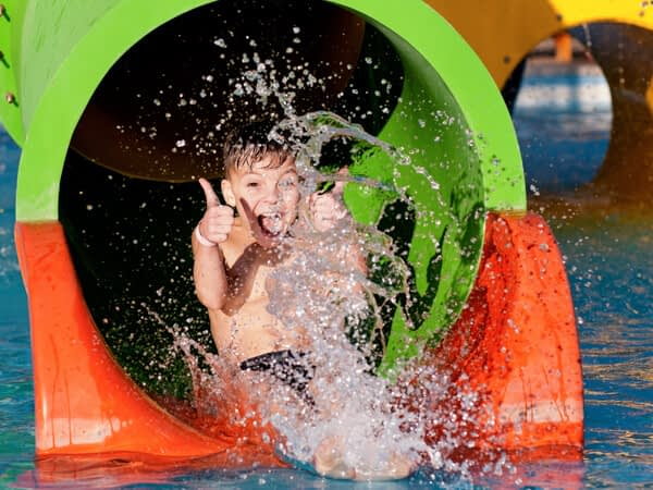 child at waterpark