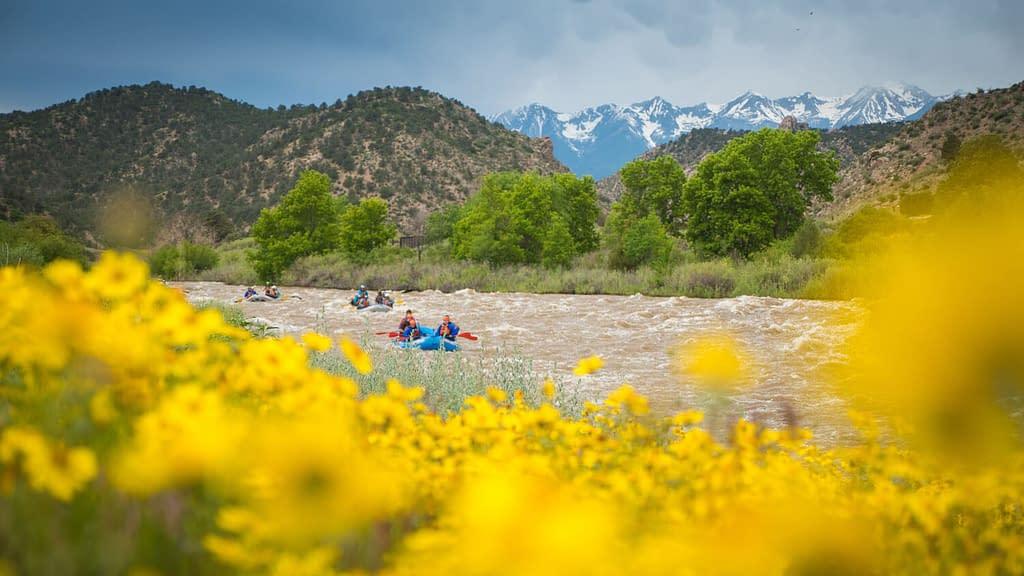 floating the Arkansas River in Colorado