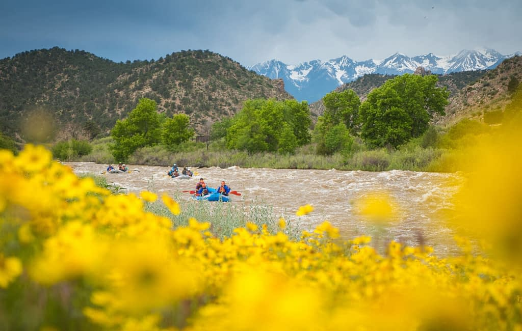 floating the Arkansas River in Colorado