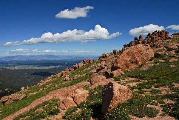 Pikes Peak Mountain views