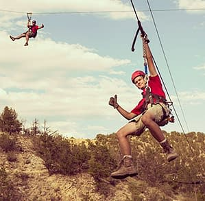 Adventures Out West Zipline Tour on Echo Canyon's zip line and rafting package trip
