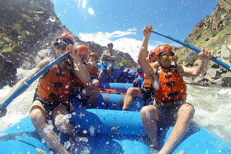 big splashes in Royal Gorge at Echo Canyon