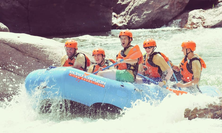Scout rafting trips at Echo Canyon