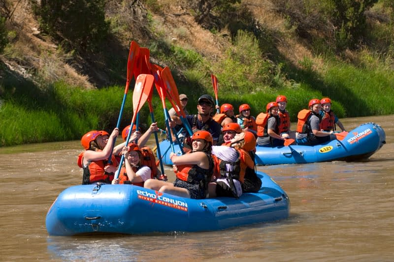 group white water rafting trips at Echo Canyon River Expeditions