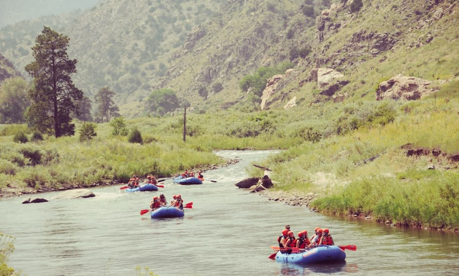 Family rafting with Echo Canyon's Family Float raft trip.